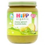 Hipp 6 Month Organic Cheesy Spinach & Potato Bake 125g Jar
