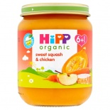 Hipp 6 Month Organic Sweet Squash & Chicken 125g Jar