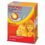 Nurofen For Children Strawberry Sachets 16 per pack 3 months +