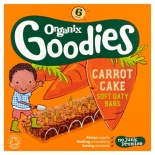 Organix 12 Month Carrot Cake Cereal Bars 6 x 30g
