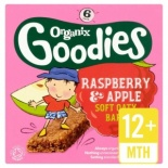 Organix 12 Month Raspberry & Apple Cereal Bar 6 x 30g