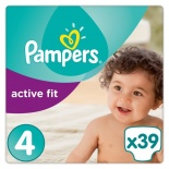 Pampers Active Fit Carry Pack Size 4 Maxi 39 per pack (7-18 Kgs)