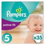 Pampers Active Fit Carry Pack Size 5 Junior 35 per pack (11-25 Kgs)