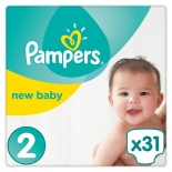 Pampers New Baby Size 2 (4-8 Kgs) 31per pack